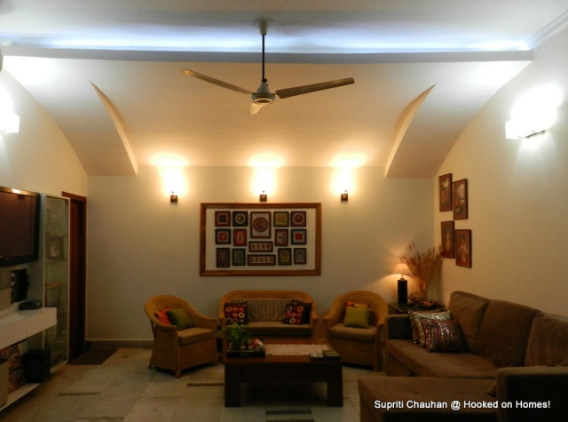 Living room false ceiling makeover